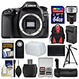 Canon EOS 80D Wi-Fi Digital SLR Camera Body with 64GB Card + Case + Flash + Battery & Charger + Grip + Tripod + Remote + Kit Review