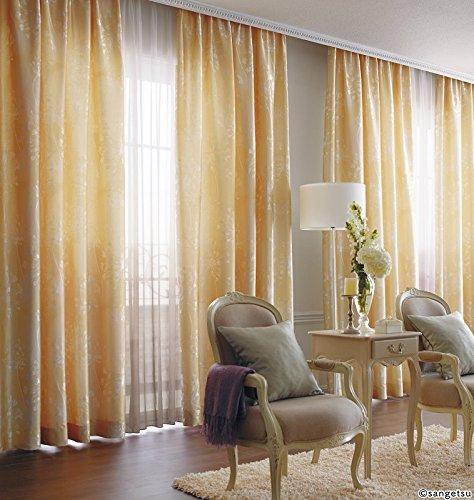 サンゲツ 分繊糸を使用した風通組織の織物 フラットカーテン1.3倍ヒダ SC3123 幅:150cm ×丈:170cm (2枚組)オーダーカーテン   B0784B68Z9