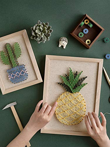 String Art Kits (RM Studio DIY Pineapple String Art Kit with All Necessary Accessories and Frame for Kids Students, Adult Crafts Kit, Home Wall Decorations Unique)