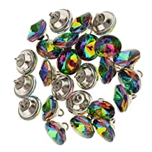 Dovewill 25 Pieces Multicolor Crystal Buttons Sofa Sewing Button Upholstery Decoration - Multi-Color, 16mm