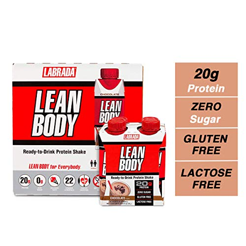 LABRADA NUTRITION – Lean Body RTD Whey Protein Shake, Convenient On-The-Go Meal Replacement Shake for Men & Women, 20 grams of Protein – Zero Sugar, Lactose & Gluten Free, Vanilla (Pack of 16)