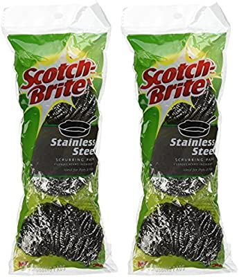 3M  Scotch-Brite  Heavy Duty  Stainless Steel Scrubbing Pads  3 pk
