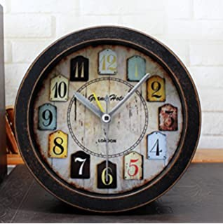Amazon imax 68171 world map suitcase clock home kitchen distressed imitation wood grain vintage silent non ticking quartz travel alarm clock blue gumiabroncs Choice Image
