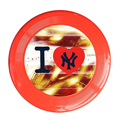 Kim Lennon NY The Yanks Custom Outdoor Plastic Sport Disc Colors And Styles Vary Red Size One -