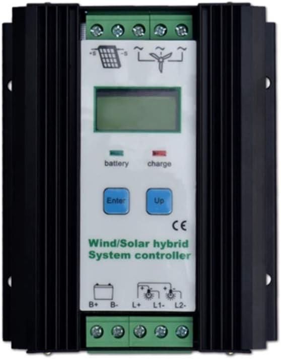 Exacta Regulador híbrido Solar del Viento 800W turbina de Viento 500W regulador Solar de la Carga del Panel 300W regulador automático de la batería 12V / 24V con la exhibición Grande del LCD Durable