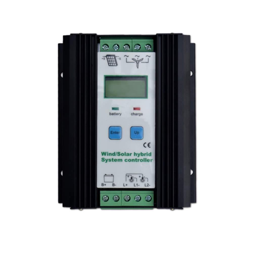 ソーラーパネル用 チャージコントローラー 800W 充放電コントローラー 500W 風力タービン 300Wソーラーパネル 充電コントローラ 12V/24V LCDディスプレイ付き 自動 バッテリコントローラ   B07PB95892