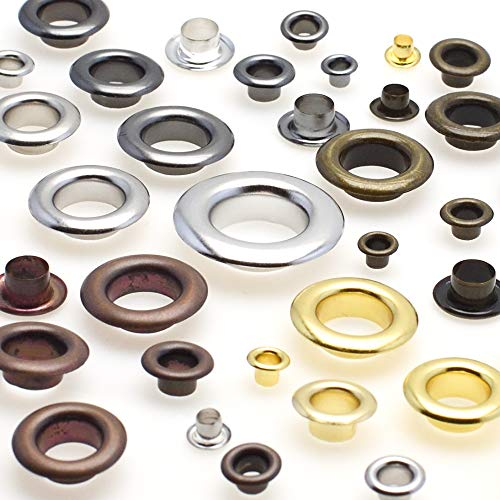 100pcs Metal Eyelets Grommets for Leather Craft DIY Scrapbooking Shoes Fashion Practical Accessories (Antique Copper, 6mmx3mmx4mm)