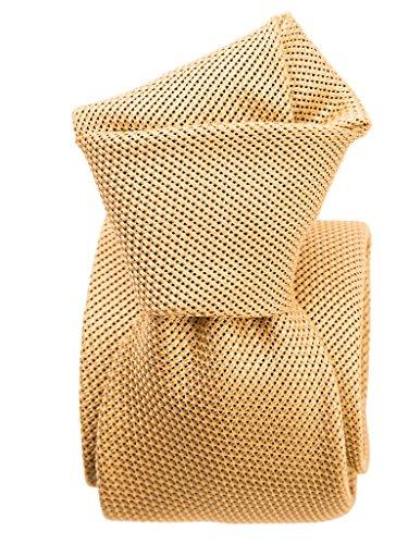 (Elizabetta Men's Italian Handmade Silk Grenadine Tie, Golden)