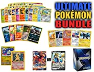 Ultimate Pokemon Cards Bundle - 60+ Cards= 50 Cards Plus 5 foil Cards, 5 Rare Cards, 2 Holo Rare Cards (100 HP