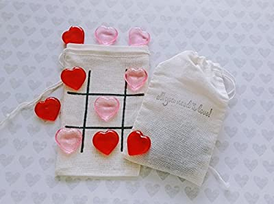 Mini tic tac toe game - Valentine's Day Gift - All you need is love - Kids games - Couples gifts - Wedding Favors - Road trip games- Games on the go- SET OF FIVE GAMES