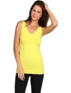 9376454c44 M. Rena Long Seamless Camisole Tunic Black at Amazon Women s ...