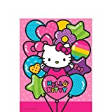Bring cute and stylish together with our adorable Hello Kitty Rainbow Plastic Table Cover, guaranteed to put a smile on your guests' face, after all everybody loves Hello Kitty!