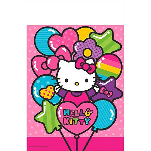 Halloween Ideas Together Put Costume (Adorable Hello Kitty Rainbow Plastic Table Cover Birthday Party Tableware Decoration (1 Piece), Pink, 54