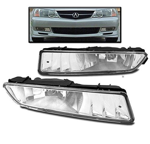ZMAUTOPARTS For 02-03 ACURA TL BUMPER DRIVING FOG LIGHTS LAMPS CHROME W/BULB NEW SET BASE - Bumper Acura Tl