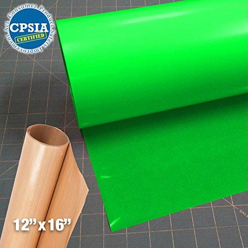 Siser Easyweed Fluorescent Green Heat Transfer Craft Vinyl Roll (50ft x 15'' Bulk w/ Teflon roll) by Siser