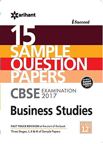 cbse sample paper business studies for class in cbse 15 sample paper business studies for class 12 in akanksha sharma books