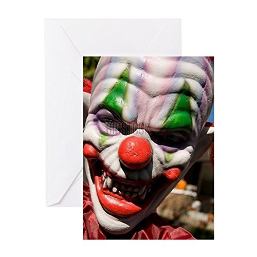 [CafePress - Halloween 2 - Greeting Card, Note Card, Birthday Card, Blank Inside Matte] (Scary Christmas Clowns)