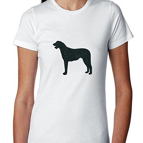 Irish Wolfhound Leash - Irish Wolfhound Dog Simple Silhouette 100% Women's Cotton T-Shirt