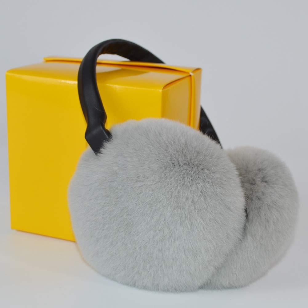 Women Rex Rabbit Fur Earmuffs Winter Fashion Earmuff Russia Plush Earflap