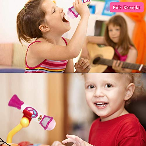 FunsLane Kids Voice Changer Microphone Toy Karaoke Machine For Toddler With Recording, Play Music Function, Colorful Lights, Party Favor Toy Great Birthday Holiday Gift for Girls Boys, Pink by FunsLane (Image #7)