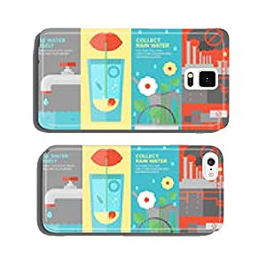 Water savings flat banner set cell phone cover case iPhone6 Plus