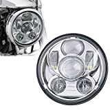 5-3/4 5.75 Inch Motorcycle Daymaker Projector LED Headlight for Harley Davidson Sportster Triumph xl1200c dyna low rider wide glide roadster nightster 883