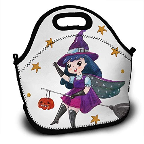 (Halloween Portable Lunch Tote Bags, Takeaway Lunch Box, Outdoor Travel Fashionable Handbag for Men Women Kids)