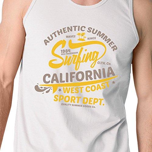 uomo Uomo Printing California 365 Size senza maniche One Maglione da xgFqn