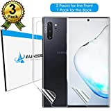 Galaxy Note 10+ Screen Protector [Sticky Located Tag] [2Front+1Back] AUNEOS TPU Soft Protector Film for Samsung Galaxy Note 10+/Plus/Pro [Not Glass] [Bubble Self-Healing] [Easy Install] (Note10+)