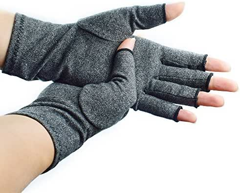 Beyoung Arthritis Gloves, Fingerless Compression Gloves, Recovery Gloves Relieve Pain from Arthritis, RSI, Raynauds & Carpal Tunnel for Computer Typing and Daily Work, Support For Hands And Joints (M)