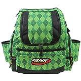 Innova HeroPack Backpack Disc Golf Bag (Green Argyle)