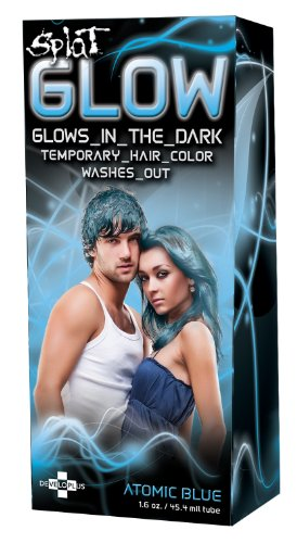 Price comparison product image Splat Glow Atomic Blue: Glows in the Dark Temporary Hair Color