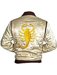 The Sparks Up Inc. Drive Scorpion Bomber Quilted Satin Jacket - Supreme Quality