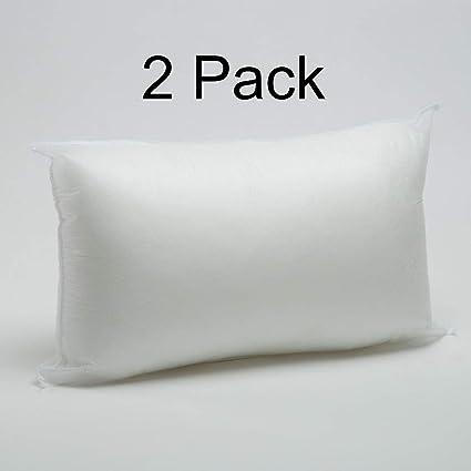 Foamily 12 X 20 Premium Hypoallergenic Lumbar Stuffer Pillow Insert Sham Square Form Polyester Standard White 12X20PP