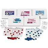 Nasco TB25355T Geometry/Algebra Bingo Set, Five Game Kits, Grades 5+