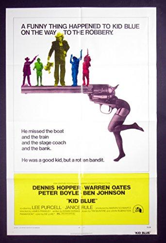 Kid Blue Movie Poster 1973 Dennis Hopper 27 x 41 1 (Hopper Ticket)