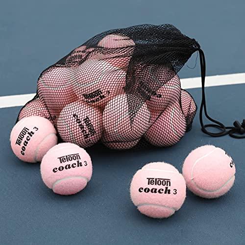 Pelotas de tenis de entrenamiento Teloon pack 18 rosa