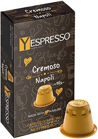 Yespresso Capsule Nespresso Compatibili, Cremoso Napoli - 100 Pezzi