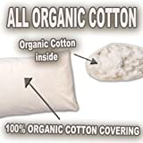 100% All Organic Cotton Fiber Filled King Size Pillow - 2-PACK