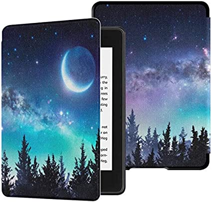 Colorful Star Smart Case for Kindle Paperwhite 10th Generation 2018 PU Leather Kindle Paperwhite Covers for All-New Kindle Paperwhite E-Reader Tree at Sunset