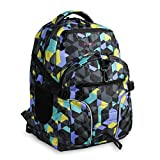 J World New York Kids' Atom Multi-Compartment Laptop Backpack, Cubes, One Size