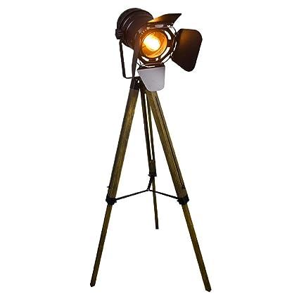 NMBE Lámpara de pie Retro Lámpara de pie LED Dormitorio en ...