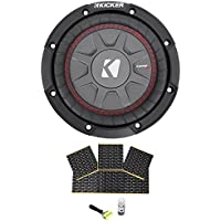 Package: Kicker 43CWRT672 6 3/4 Subwoofer Totaling 300 Watt With 2-Ohm DVC + Rockville Rockmat RM12 12 Sq Ft Sound Dampening Speaker Deadening Car Audio Kit
