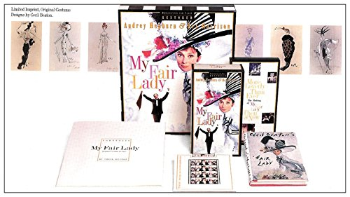 Cecil Beaton My Fair Lady Costumes (My Fair Lady Deluxe Box Set of Rare Collectibles (30th Anniversary Letterbox VHS Video of Original Film, Imprint of 6 Original Sketches of Costume Designs, 70mm Film Frames From Original Camera Negative, Special Printed Diary by Cecil Beaton, VHS Video of Unique Footage and Interviews))