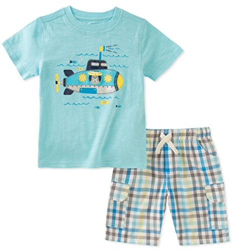 Kids Headquarters Toddler Boys' 2 Pieces Short Set, Turquoise, 3T