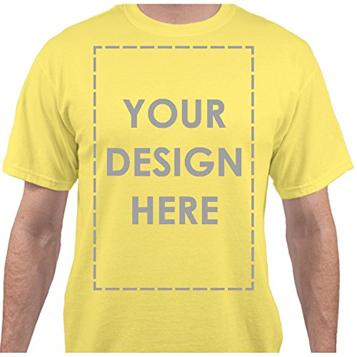 Add Your Own Custom Text Name Personalized Message Image Yellow T-Shirt - XLarge (Together T-shirts Yellow)