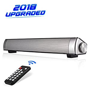 Sound Bar, Soundbar TV[Upgraded Version] Wired and Wireless Bluetooth Surround Soundbar for TV/PC/Tablet/Smartphone, Home Theater TV Speaker with AUX/RCA Cable Capacity