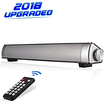 ... TV[Upgraded Version] Wired and Wireless Bluetooth Surround Soundbar for TV/PC/Tablet/Smartphone, Home Theater TV Speaker with AUX/RCA Cable Capacity