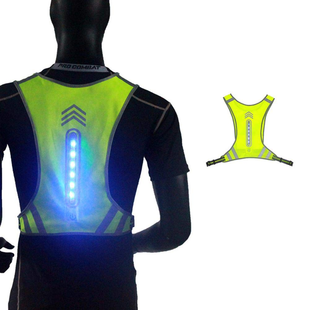 Walking,Sports Fits For Men And Women Dinapy LED Reflective Vests With USB Charging Glowing Vest,Adjustable Size,Safety Vest For Outdoor Works Cycling Jogging