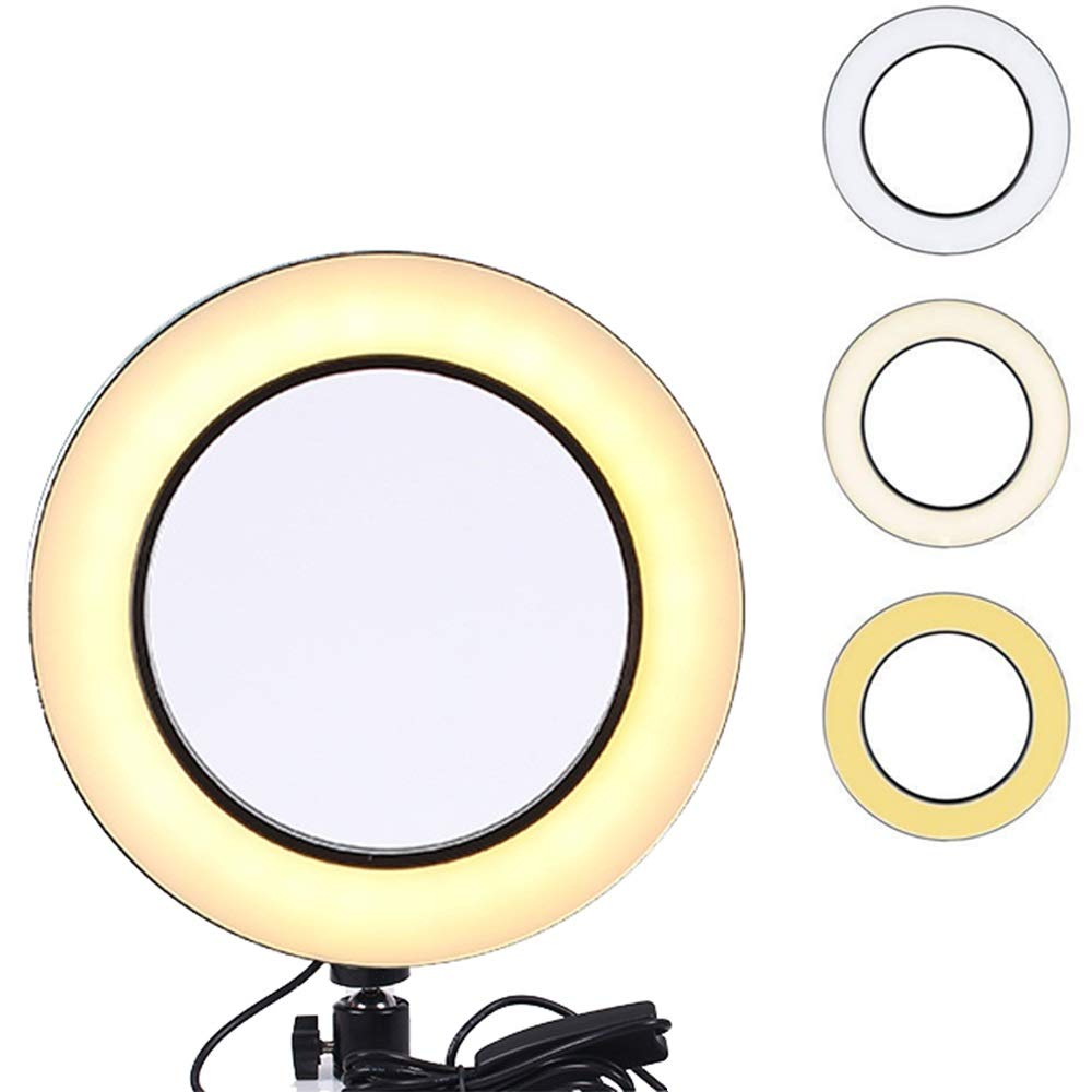 10'' Ring Fill Light for Live Streaming Tripod, YouTube Video Production Light, Photography, Light for Teaching Online, Dimmable LED Lighting Replacement (25.5CM Ring Light)
